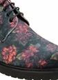 Divarese Çiçek Desenli Klasik Ayakkabı Siyah